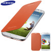 Genuine Samsung Galaxy S4 Flip Case Cover - Orange