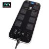 Masterplug Surge Protected 8 Plug Power Block with Dual USB - Black