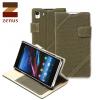 Zenus Cambridge Diary Stand Case for Sony Xperia Z1 - Khaki
