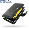 Pdair Nokia Lumia 525 / 520 Leather Book Case - Black