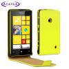 Adarga Leather Style Nokia Lumia 525 / 520 Flip Case - Neon Yellow
