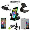 Das Ultimate Pack Lumia 630 Zubehör Set in Schwarz