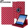 Encase Rotating Kunstleder iPad Air 2 Hülle in Red Dot