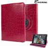 Encase Alligator Pattern Rotating iPad Mini 3 / 2 / 1 Case - Red
