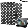 Encase Rotating Doodle Kunstleder iPad Mini 3 / 2 / 1 Hülle in Schwarz