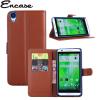 Encase HTC Desire 820 Tasche in Braun