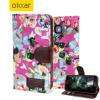 Olixar Floral Fabric Samsung Galaxy S6 Wallet Case - Pink