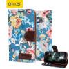 Custodia Floral Fabric per Samsung Galaxy S6 - Blu