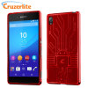 Cruzerlite Bugdroid Circuit für Sony Xperia Z3+ Hülle in Rot