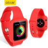 Olixar Soft Silikon Apple Watch 2 / 1 Sport Hülle mit Band(38mm) Rot