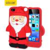 Funda silicona Olixar 3D Santa Klaus iPhone 5S / 5 - Negro / Blanca