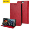 Olixar Leather-Style HTC One A9 Wallet Case Rot