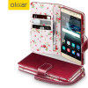 Olixar Leather-Style Huawei Mate S Wallet Case - Floral Rood