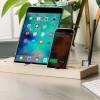 Soporte de Escritorio Olixar para Tablets y Smartphones - Madera