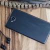 Mozo Microsoft Lumia 650 PU Batterieabdeckung in Schwarz Holz