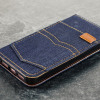 Funda iPhone SE Olixar Denim Fabric Tipo Cartera Soporte - Vaqueros