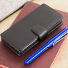 Olixar Premium Sony Xperia X Ledertasche Wallet Case in Schwarz