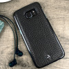 Vaja Wrap Samsung Galaxy S7 Edge Premium Leather Case - Black