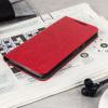 Olixar Book Case Moto G4 Plus Tasche Wallet Rot