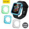 Olixar Soft Protective Apple Watch 2 / 1 Case - 38mm - Triple Pack