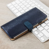 Hansmare Calf iPhone 7 Plus Wallet Case - Blauw