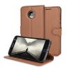 Olixar Bookcase Motorola Moto Z Play Wallet Tasche Braun