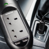 Duracell In-Car Mains & USB Charger - Black