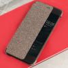 Original Huawei P10 Plus Smart View Flip Case Tasche in Braun