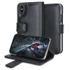 Olixar Genuine Leather iPhone X Wallet Case - Black