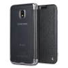 KSIX Samsung Galaxy J3 2017 Metallic Wallet Folio Case - Black