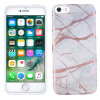 iPhone 5 / 5S / SE Marble Silicone Case - Grey / Rose Gold