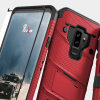 Zizo Bolt Series Samsung Galaxy S9 Plus Tough Case & Belt Clip - Red