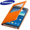 Official Samsung Galaxy Note 3 S-View Premium Cover Case - Orange