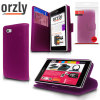 Orzly Multi-Functional Wallet Case for Xperia Z1 Compact - Purple