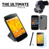 The Ultimate Google Nexus 4 Accessory Pack - White