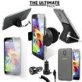 Das Ultimate Pack Samsung Galaxy S5 Zubehör Set in Schwarz