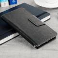 Encase Draaibaar 5.5 Inch Leren-Stijl Universele Phone Case - Zwart