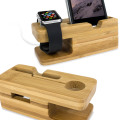 Olixar Charging Apple Watch Bamboo Stand with iPhone Dock