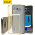 Olixar FlexiShield Slot Samsung Galaxy Note 5 Gel Case - Gold Tint