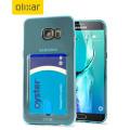 Olixar FlexiShield Slot Samsung Galaxy S6 Edge Plus Gel Case - Blue