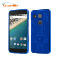 Cruzerlite Bugdroid Circuit Nexus 5X Deksel - Blå