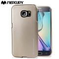 Funda Samsung Galaxy S6 Edge Mercury iJelly Gel - Oro Metalizado