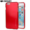 Funda iPhone 6S Plus / 6 Plus Mercury iJelly Gel - Rojo Metalizado