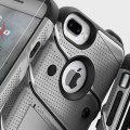 Zizo Bolt Series iPhone 7 Plus Tough Case Hülle & Gürtelclip Grau