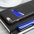 Mujjo Leather-Style iPhone 7 Wallet Case - Black