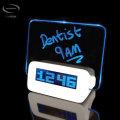 Mayhem Scribble LCD Pixel Alarm Clock - White