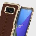 VRS Design Simpli Mod Leder-Style Galaxy S8 Plus Tasche - Braun