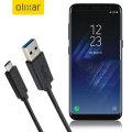 Olixar USB-C Samsung Galaxy S8 Charging Cable - Black 1m