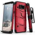 Zizo Bolt Series Samsung Galaxy S8 Plus Tough Case Hülle & Gürtelclip - Rot