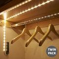 AGL Wireless 30 LED PIR-Bewegungssensor Lichtleiste - Twin Pack